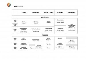 HORARIO DE ACTIVIDADES CURSO 2016-2017