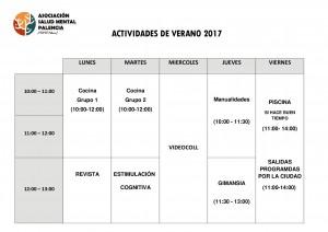 CUOTAS Y HORARIO 2017 VERANO 2017