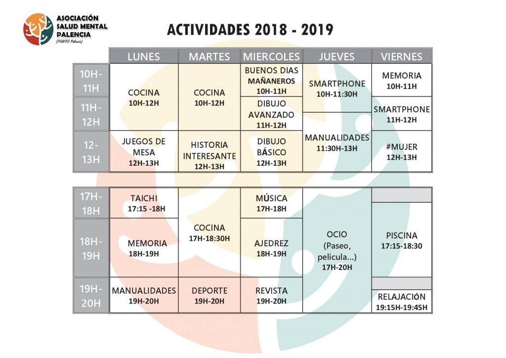 horario 2018-2019 (cambio Enero)